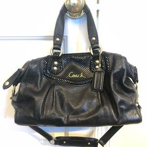 Coach Ashley Satchel and matching wallet